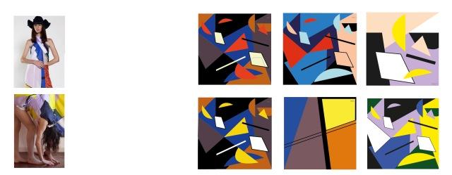 pañuelos coleccion geometricos